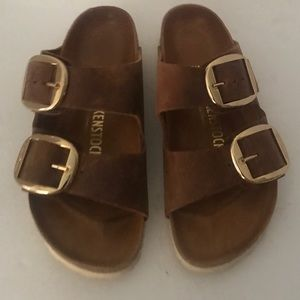 Birkenstock Big Buckle Cognac/Brown Sandal 36